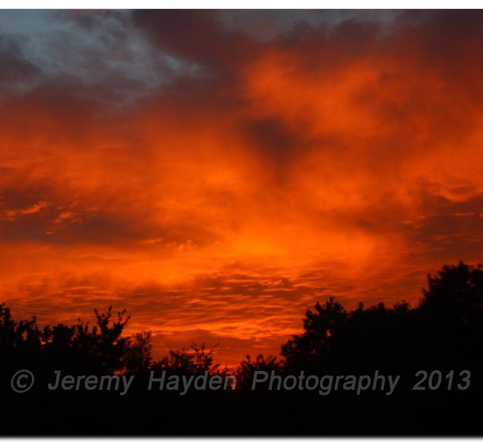 Red English Sunset