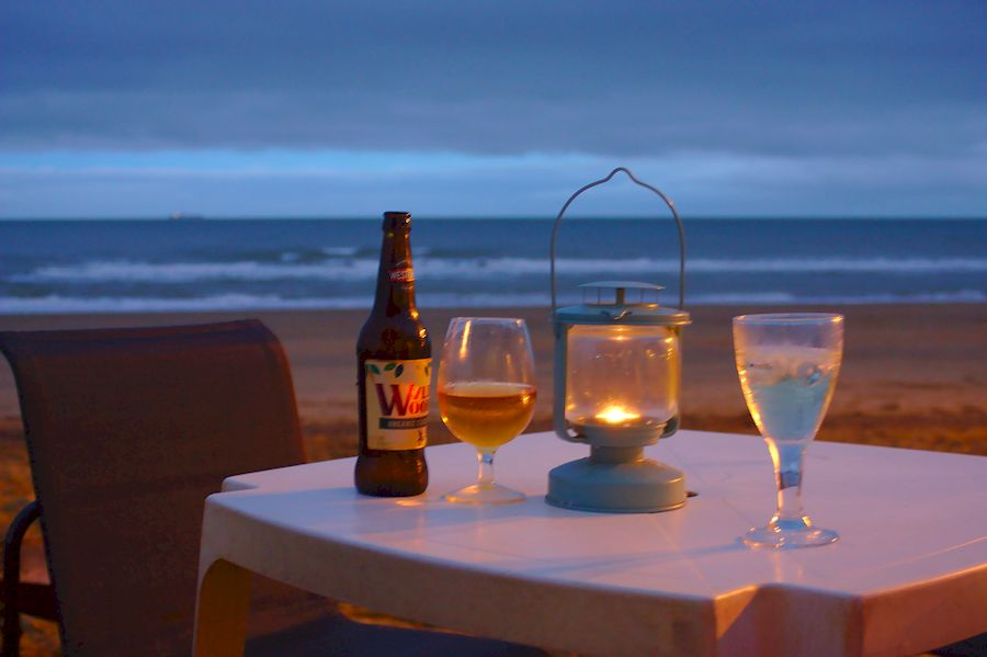 Sundowner time on the beach