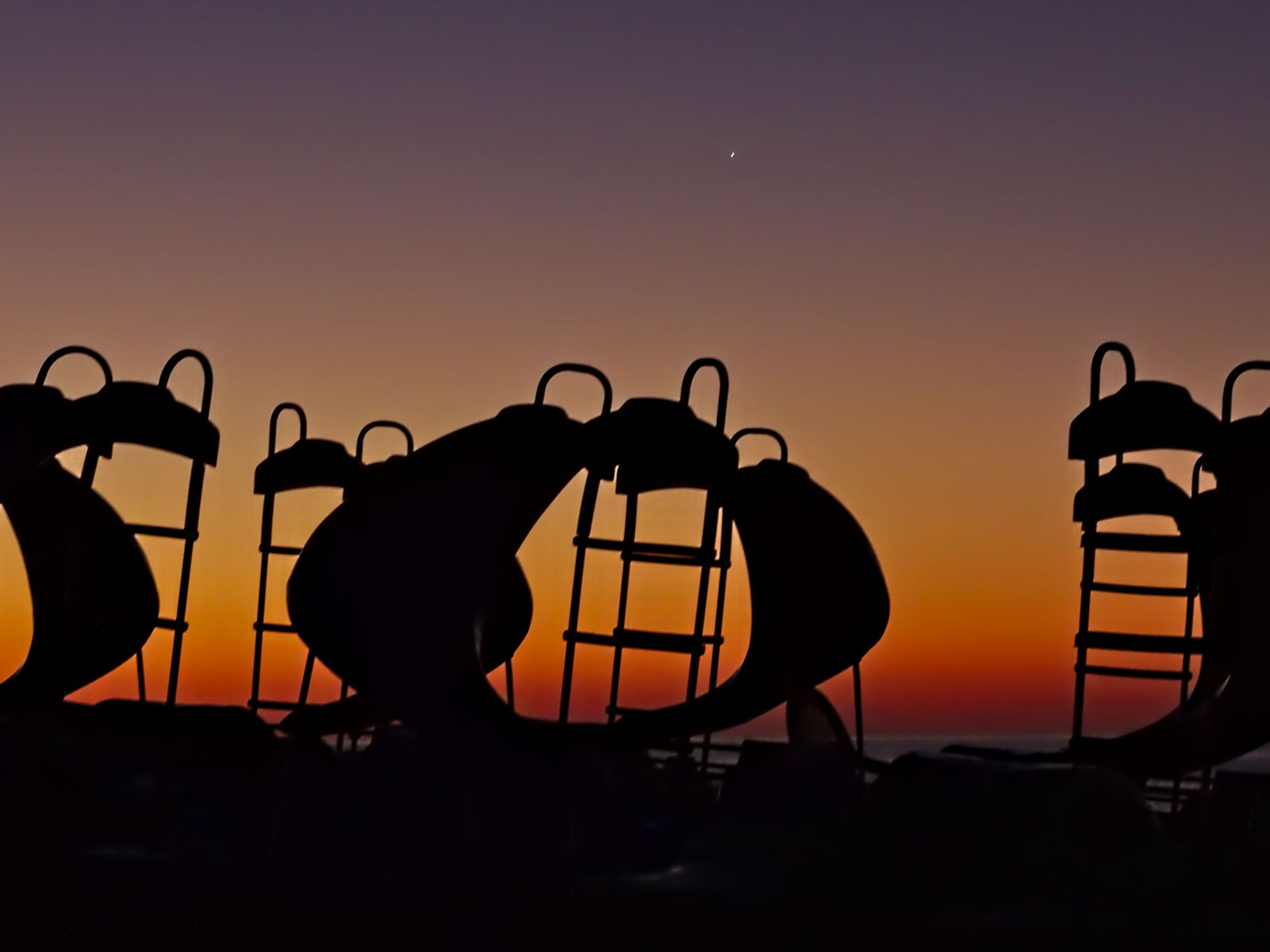 Beach Sunrise - Shapes in the Dawn