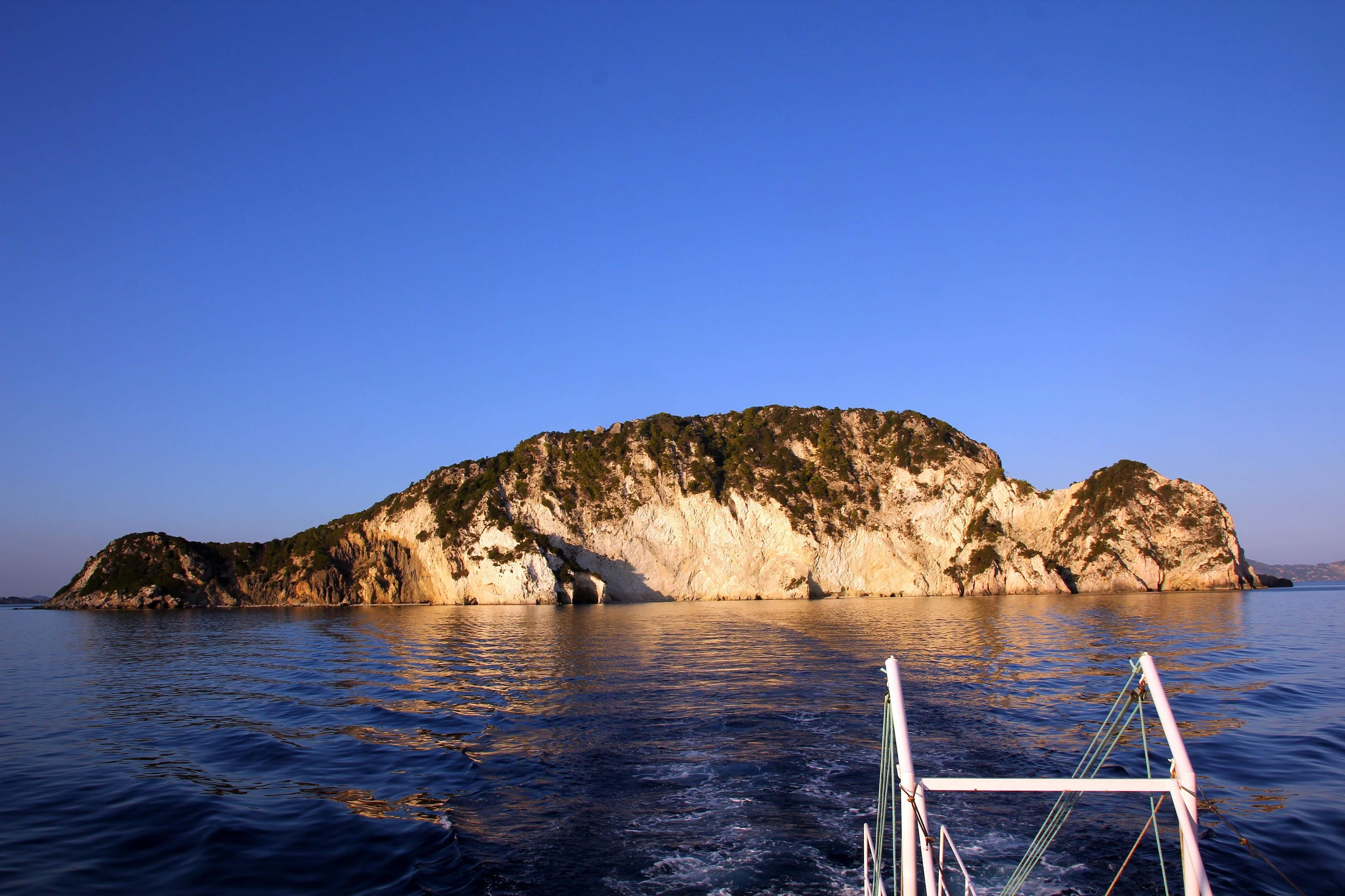 Marathonisi - Turtle Island. On our Zakynthos sunset cruise.