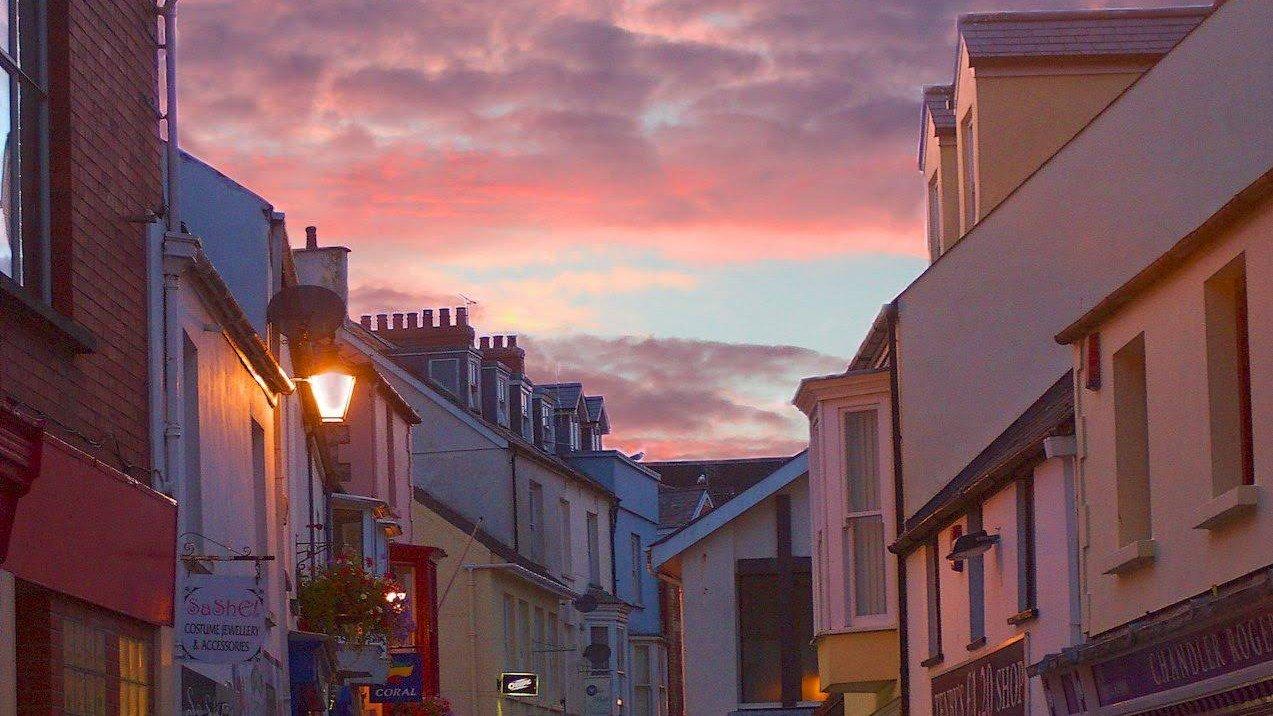 Sunset over a Tenby Street