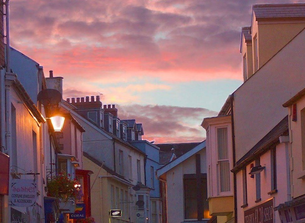 Sunset over a Tenby Street