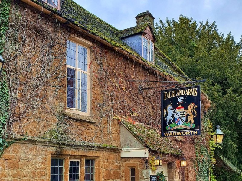 The Falkland Arms pub in Great Tew, Ocfordshire, England