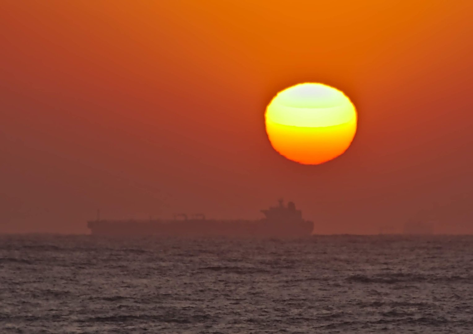 Sunrise over the Indian Ocean at Umdloti, near Durban in Kwa Zulu-Natal in South Africa.