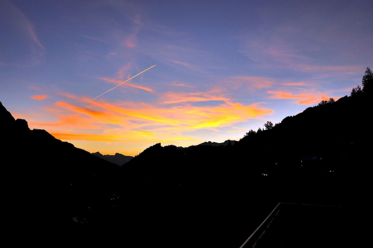 Sunset in the mountains - taken in Saanen, Switzerland.