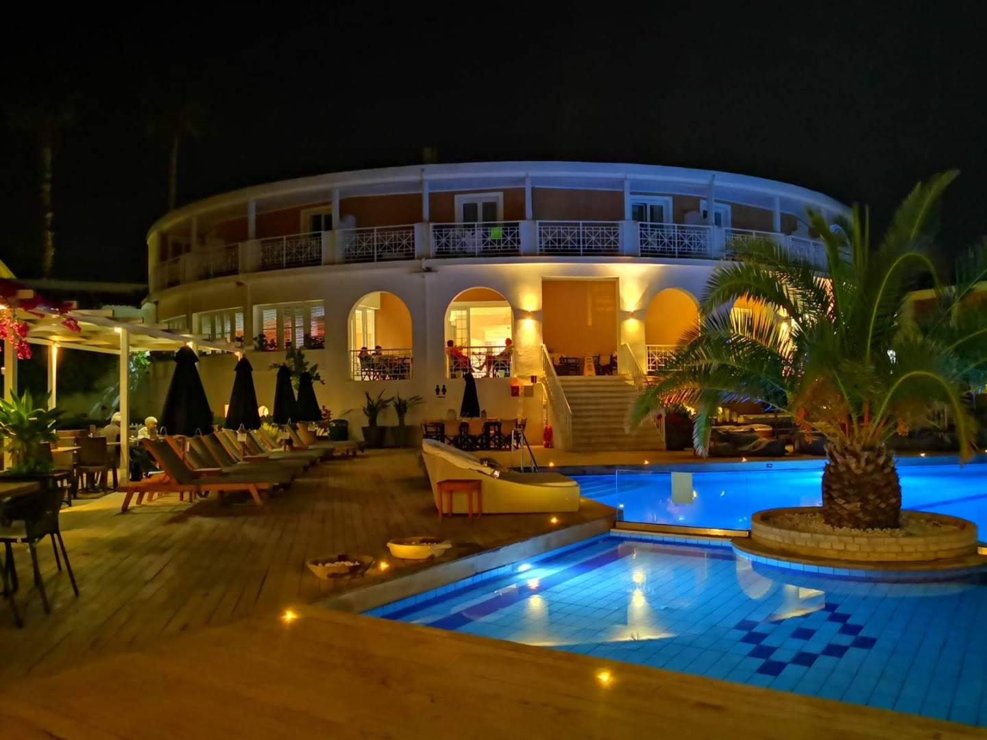 The hotel pool in the evening - Zakynthos