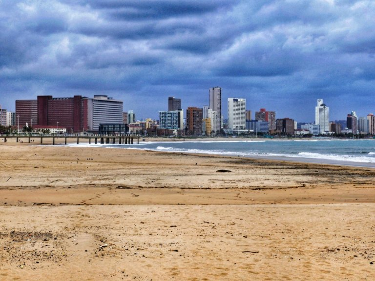 Durban skyline from the beach near the ski-boat club