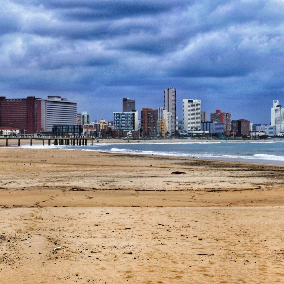 Durban skyline from the beach near the ski-boat club