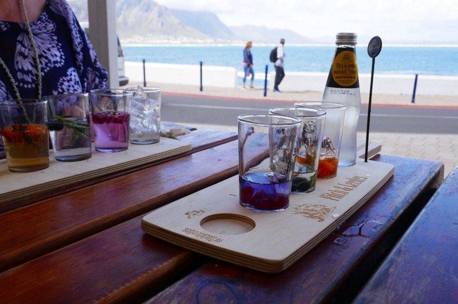 Gin tasting at the Burgundy Restaurant