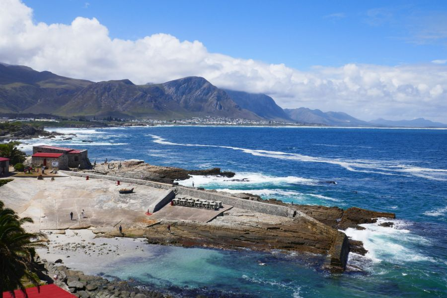 The View from central Hermanus over Walker Bay.