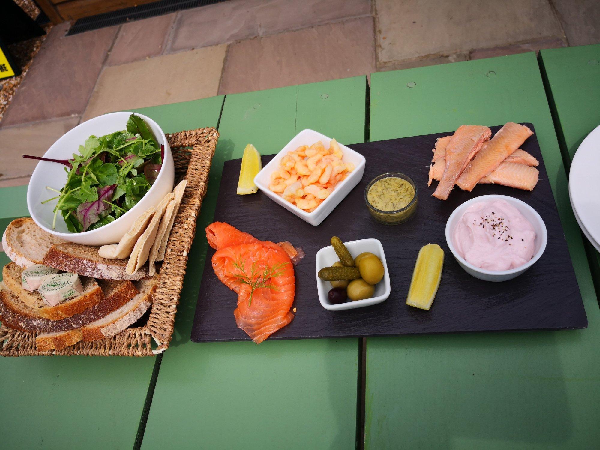Weld Smokery - A Fish Sharing Platter - Great food!!