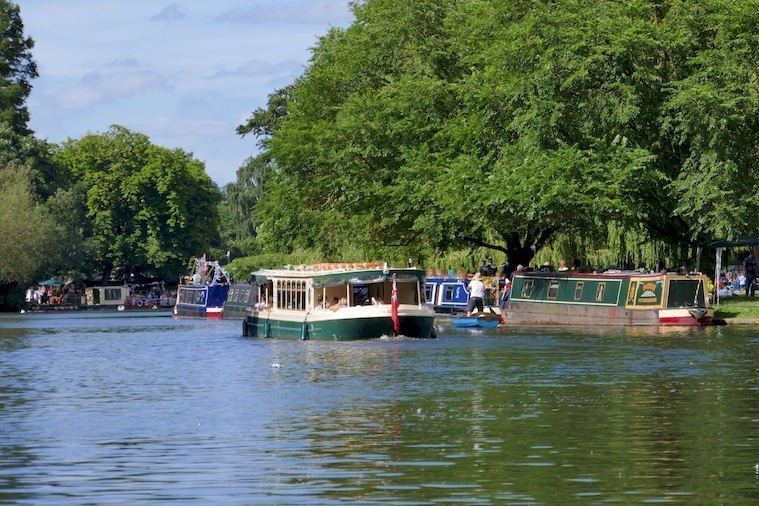 A Cruise Boat on the Avon