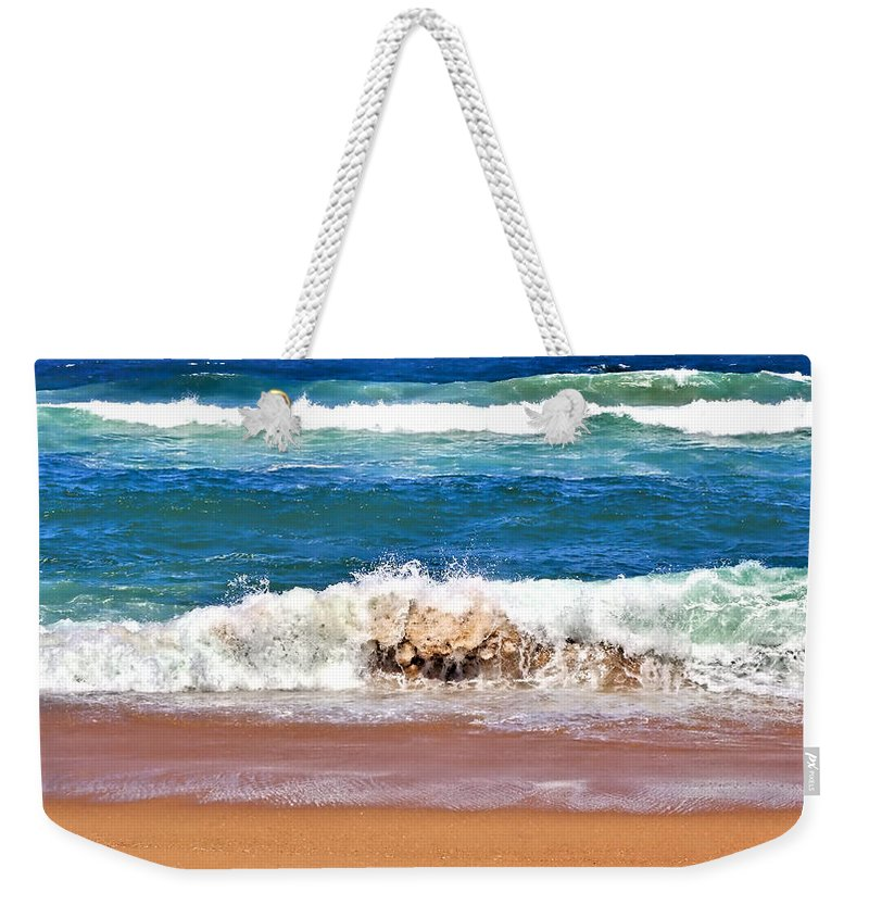 Breaking Waves Weekender Tote Bag for all your beach kit