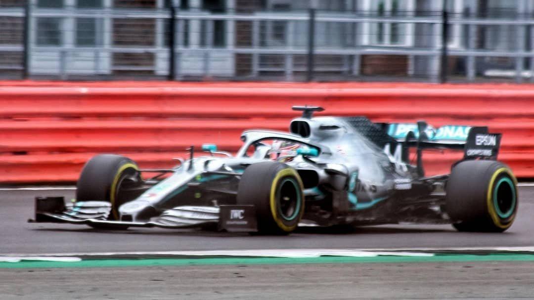 Lewis Hamilton's car at the British Grand Prix 2019.