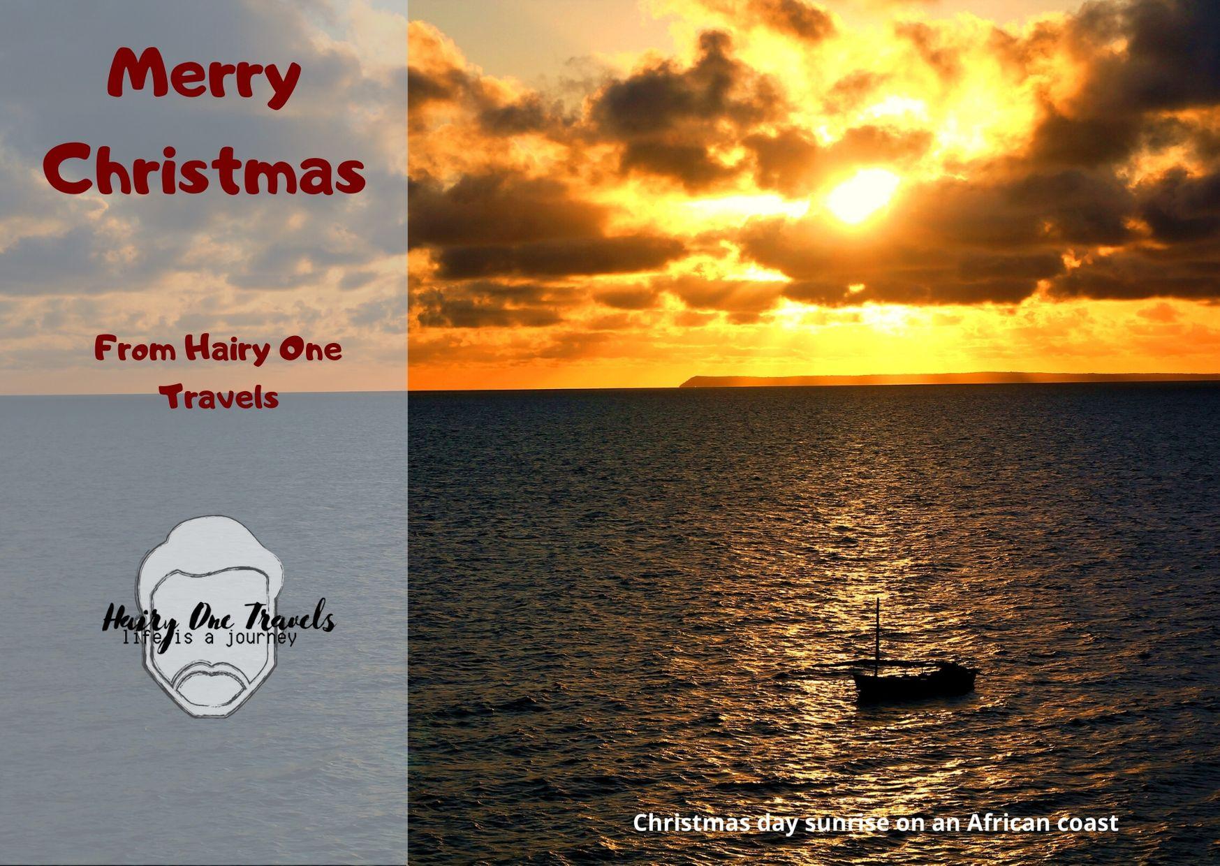 A Christmas sunrise over the Bazaruto Archipelagi.