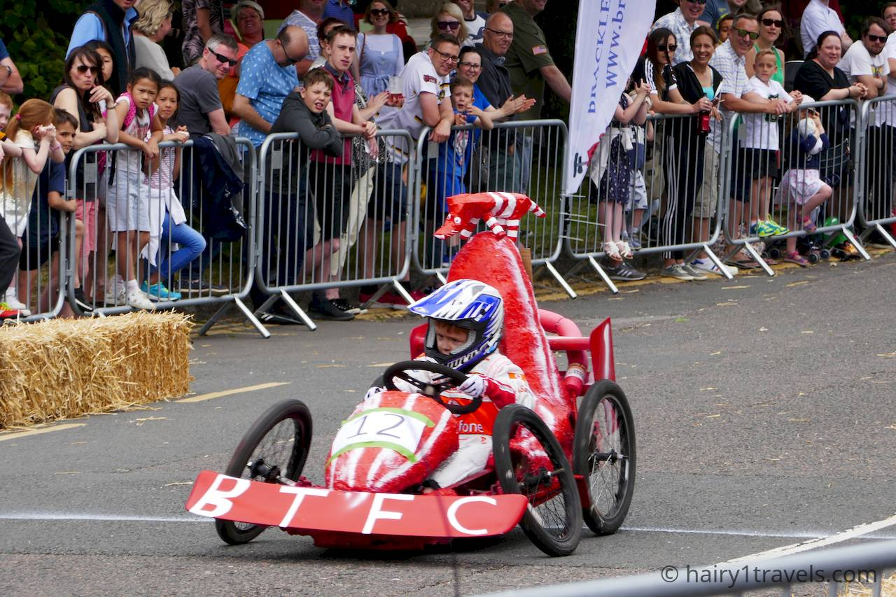 The youngest soap box driver