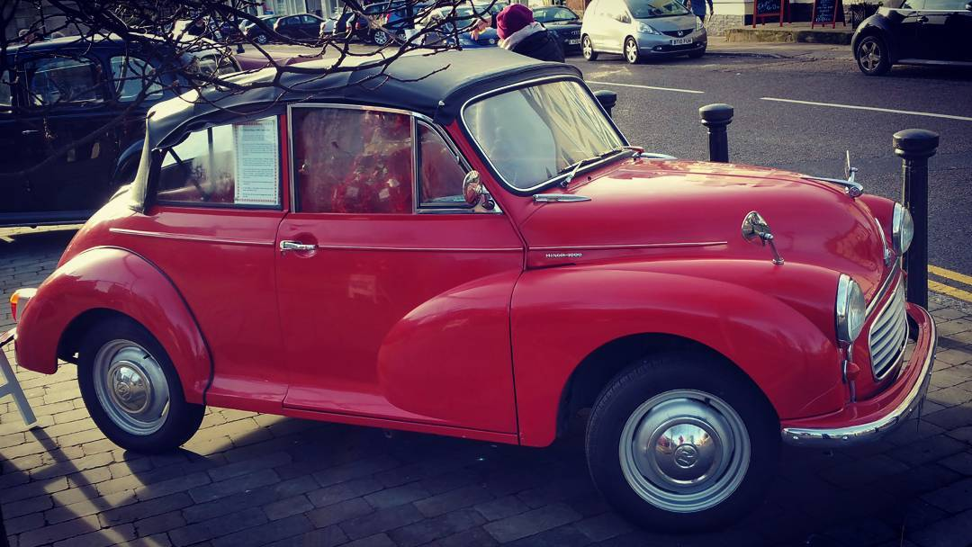 Morris Minor Convertible at Classic cars in the Marketplace, Brackley
