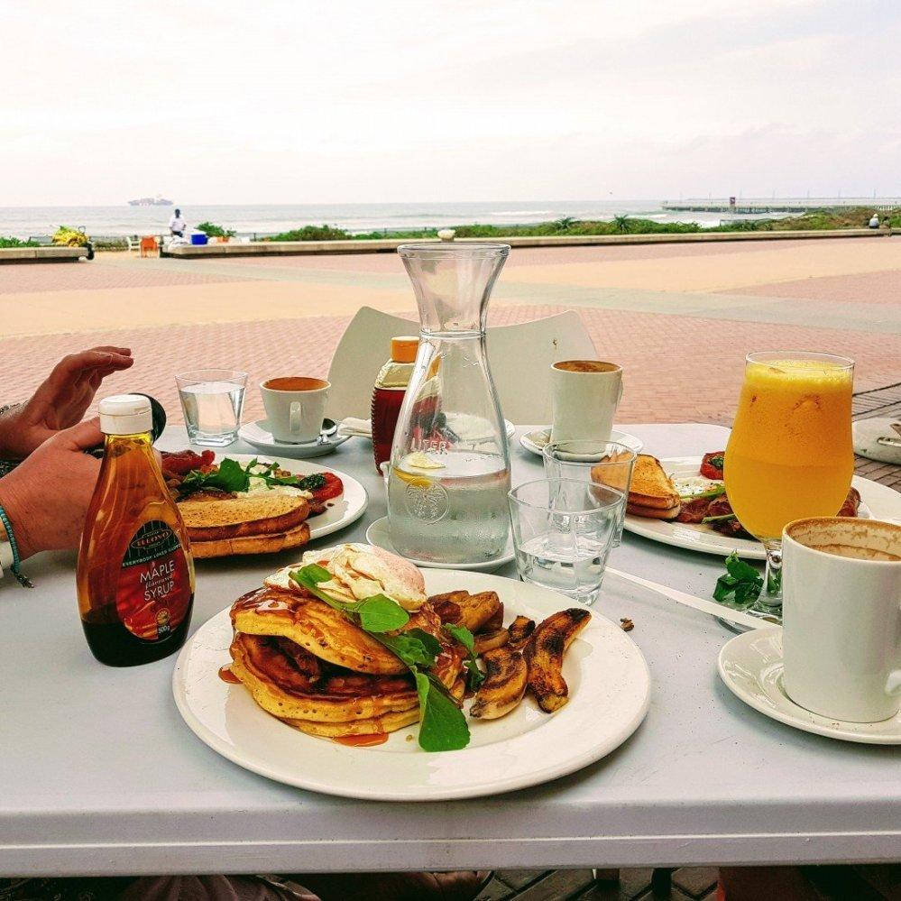 Durban Beachfront Breakfast - pancakes Durban style!