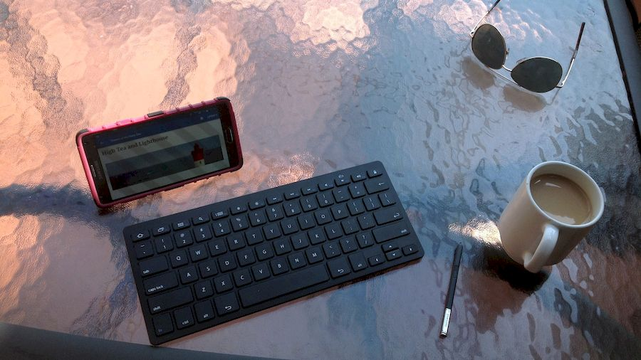 Blogging from an Android phone with a bluetooth keyboard