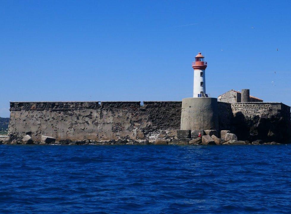 Fort de Brescu Lighthouse at Cap d'Agde in France