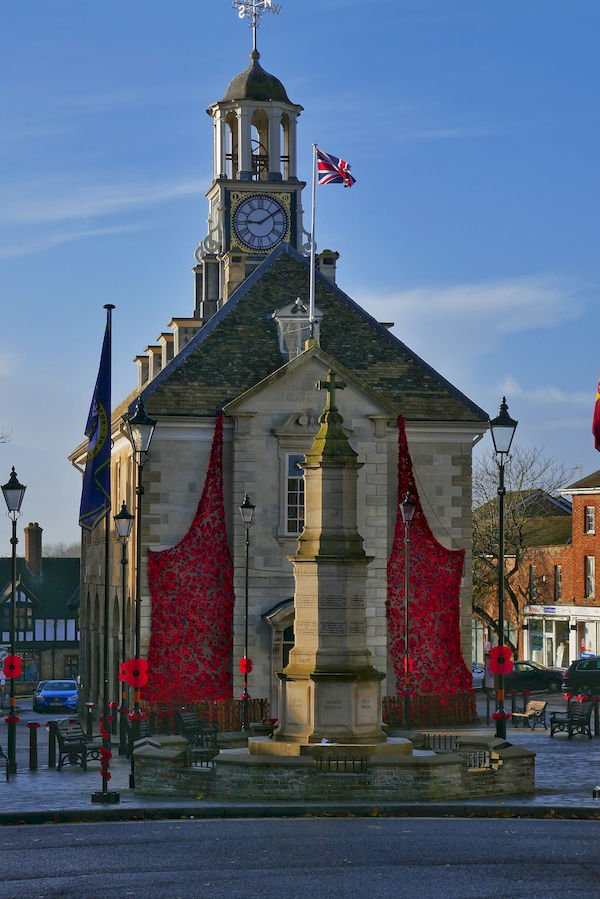 Brackley Town Hall and War memorial