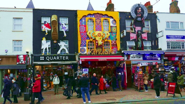Camden Town. A street view as we walked from the tube station to Camden Market.