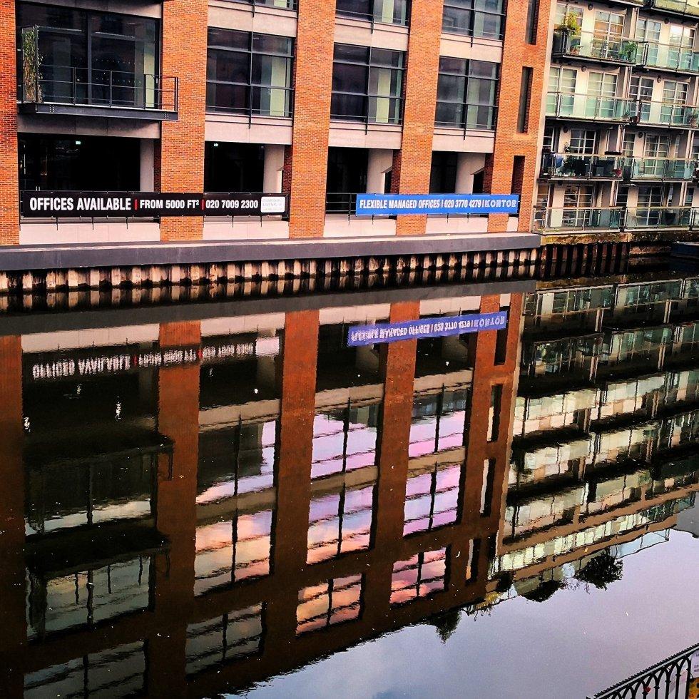 Golden hour Reflections in Camden Lock