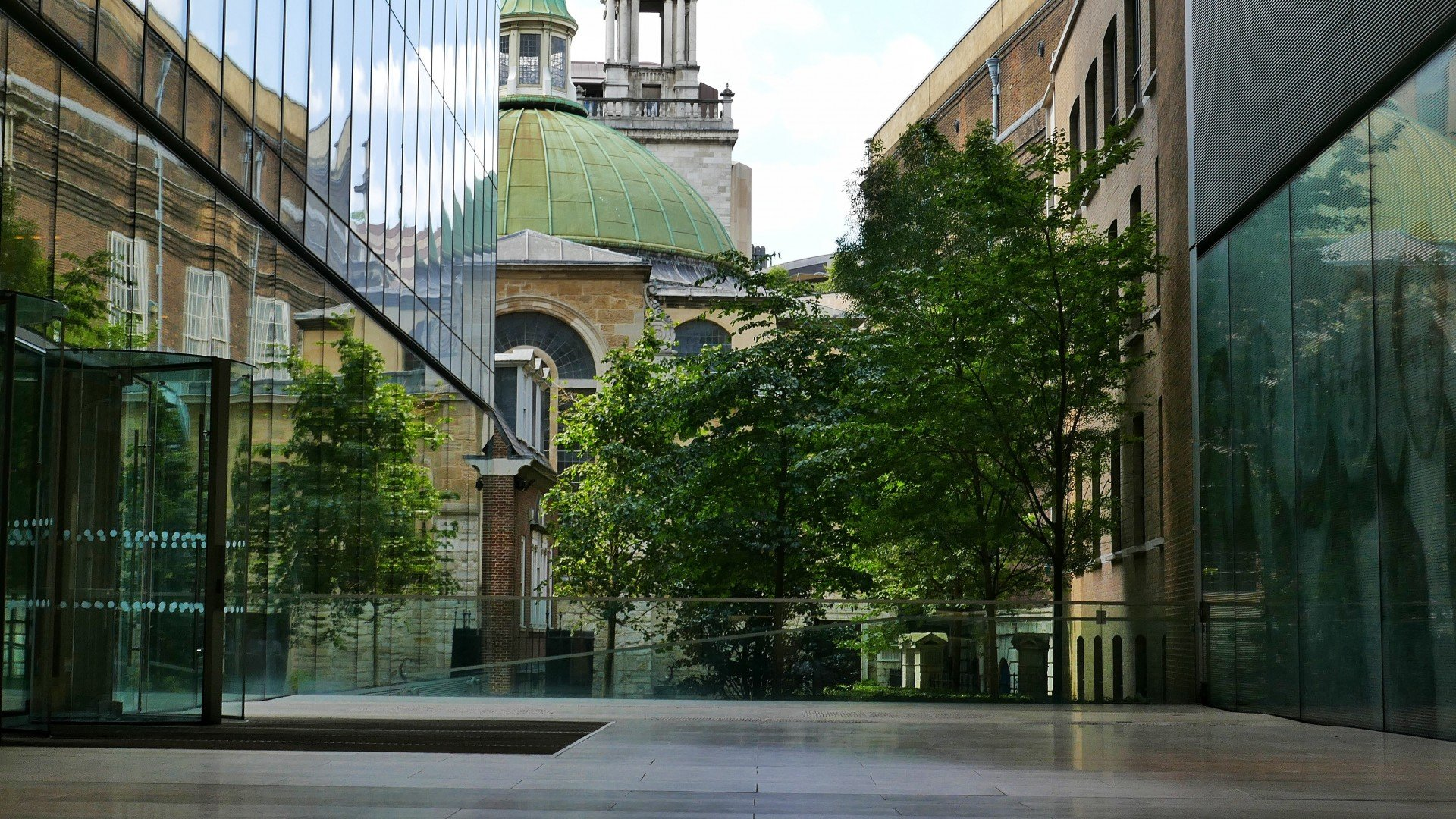 St Pauls in London spotted between two office blocks