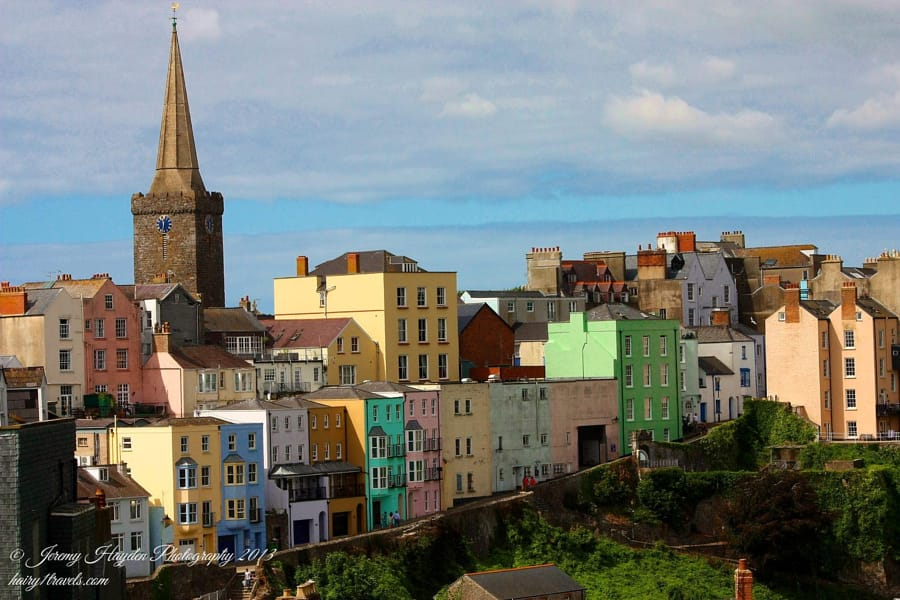 Coloured Buildings in tenby, Pembrokeshire