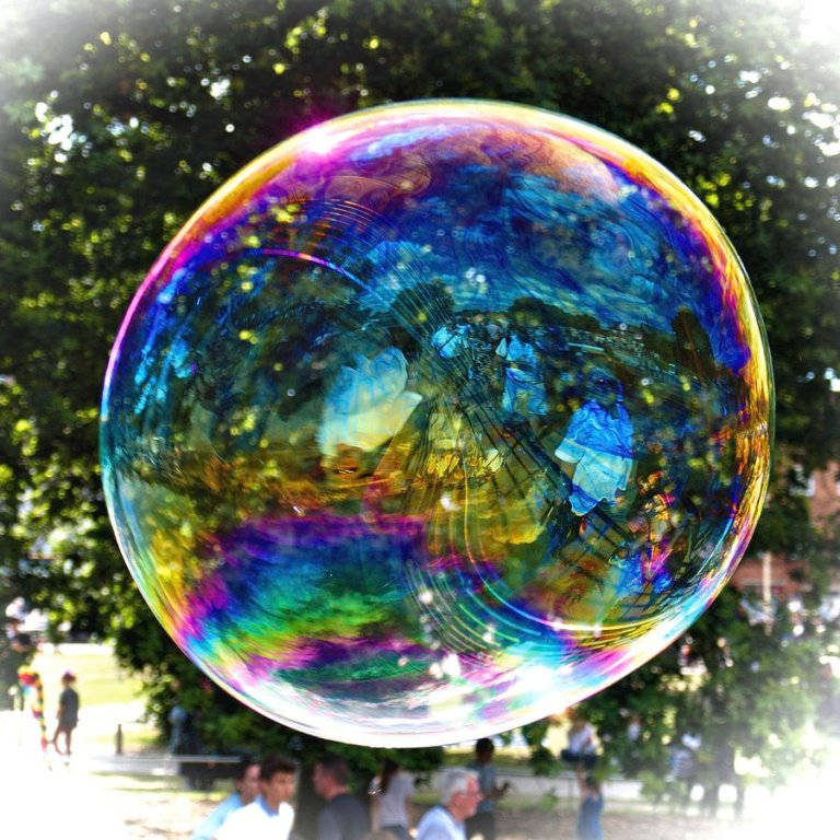 Have your camera ready to shoot. That's how I caught the big soap bubble.