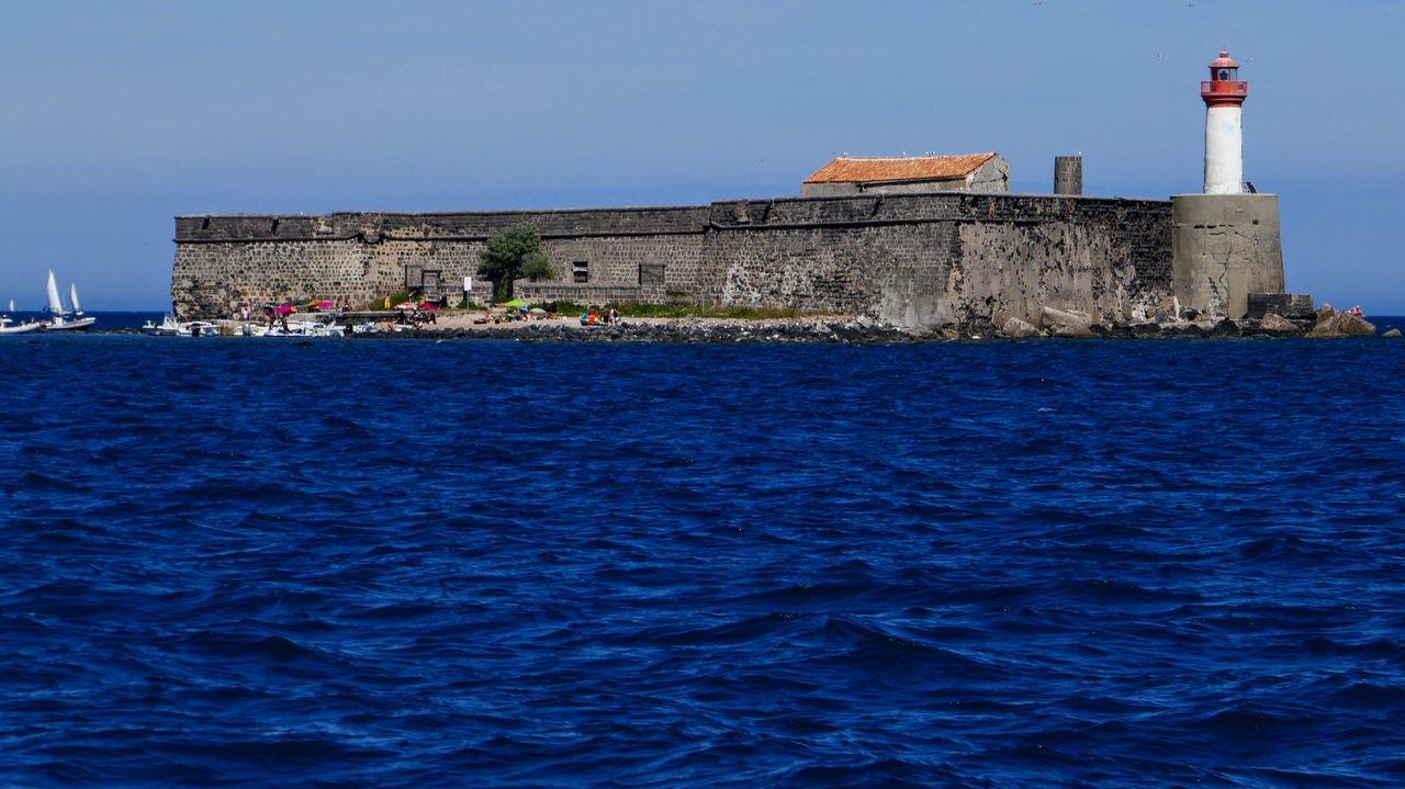 Fort de Brescu, off Capd' Agde, France