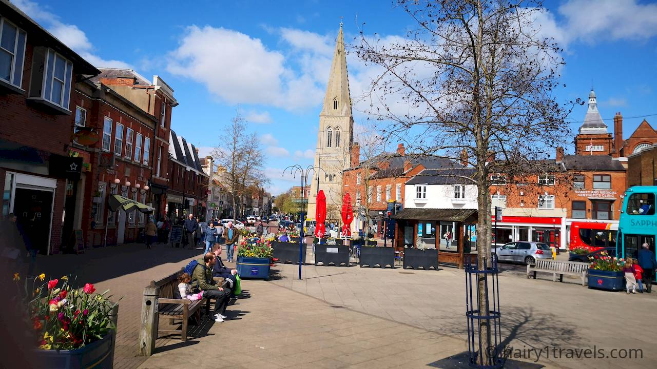 The square - Market Harborough in Leceistershire.