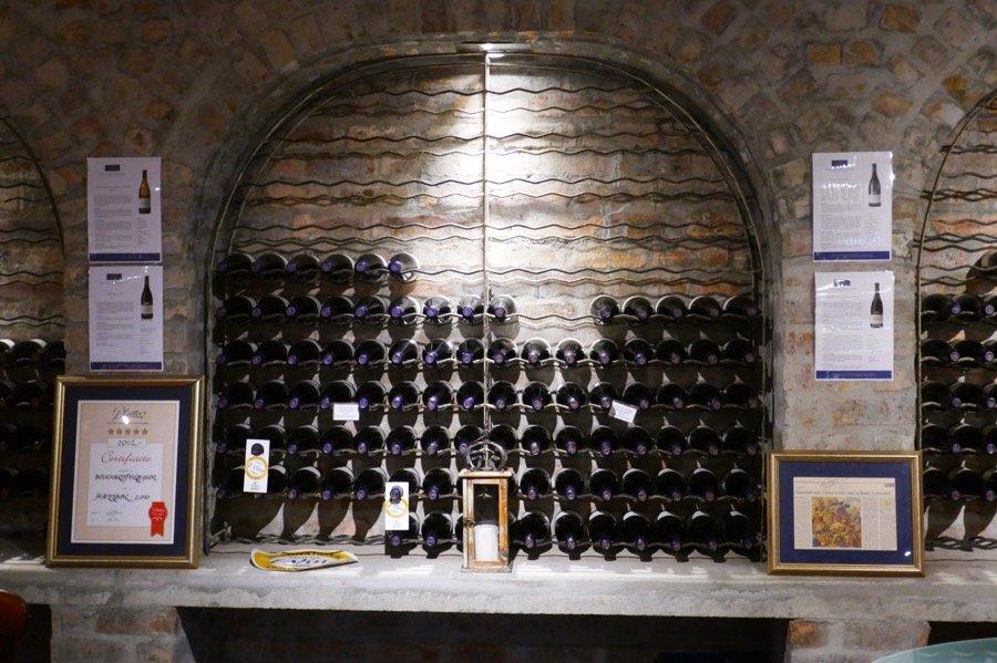 Bottles of wine on our Hermanus Wine Hoppers trip