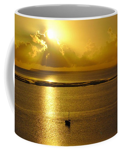 Golden Coffee Mug - Vilankulos Sunrise on a Coffee Mug