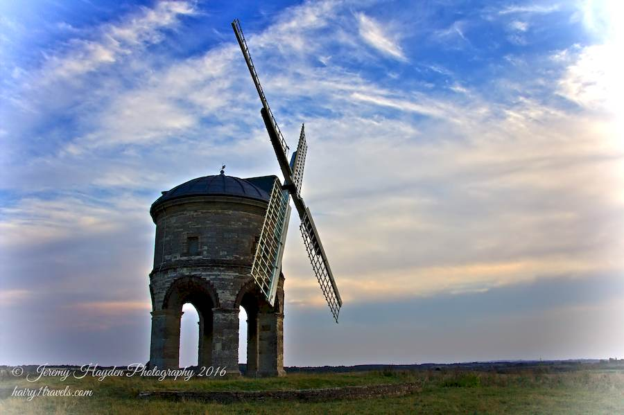 Chesterton Windmill on a cloudy evening.