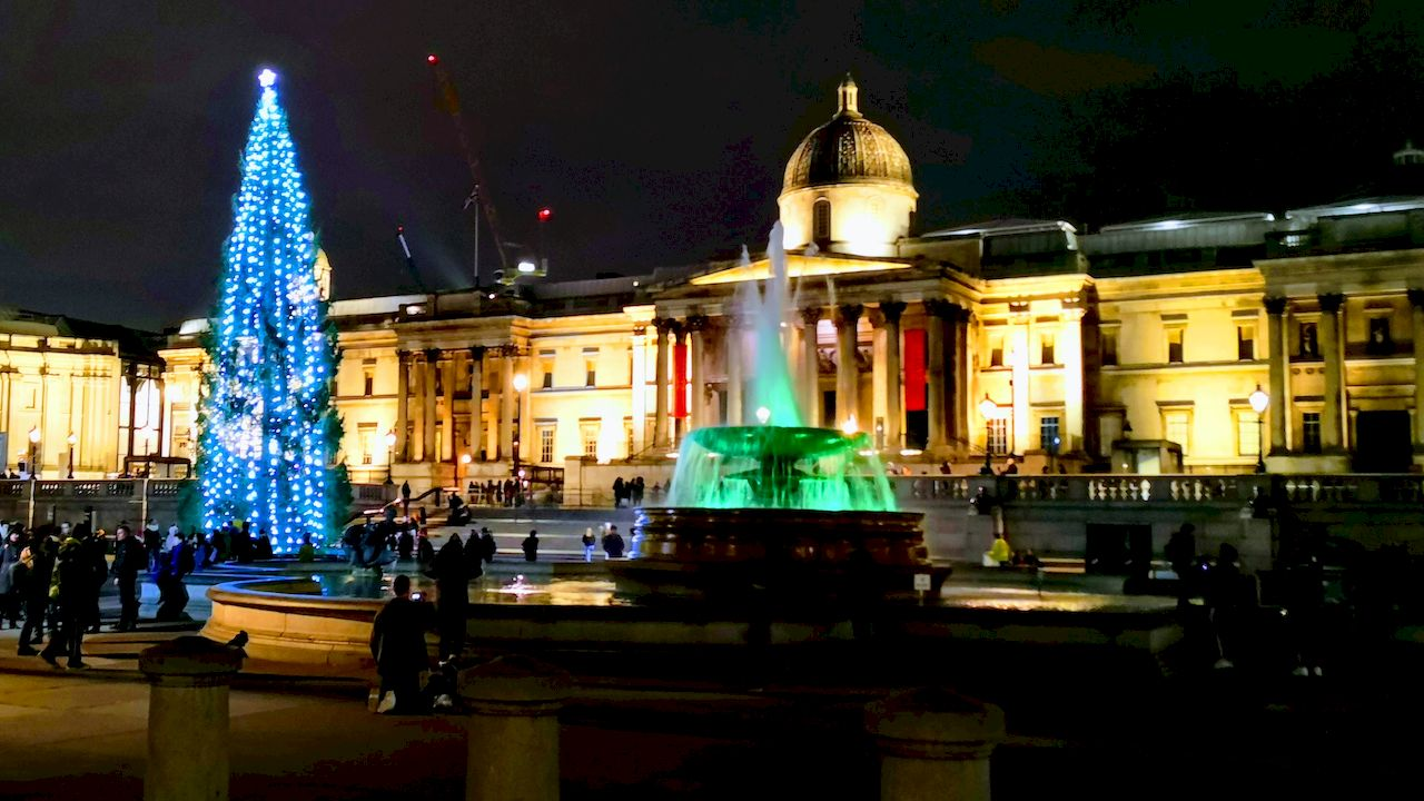 Trafalgar Square. By Night! And Now Its 2019.