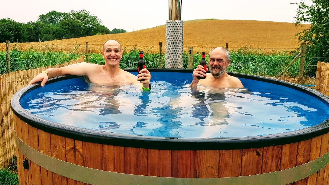 In the hot tub at Standon Calling