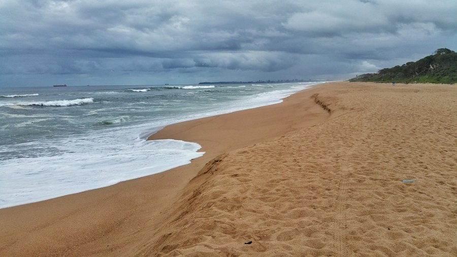 Morning on an empty beach at Umhlanga Rocks