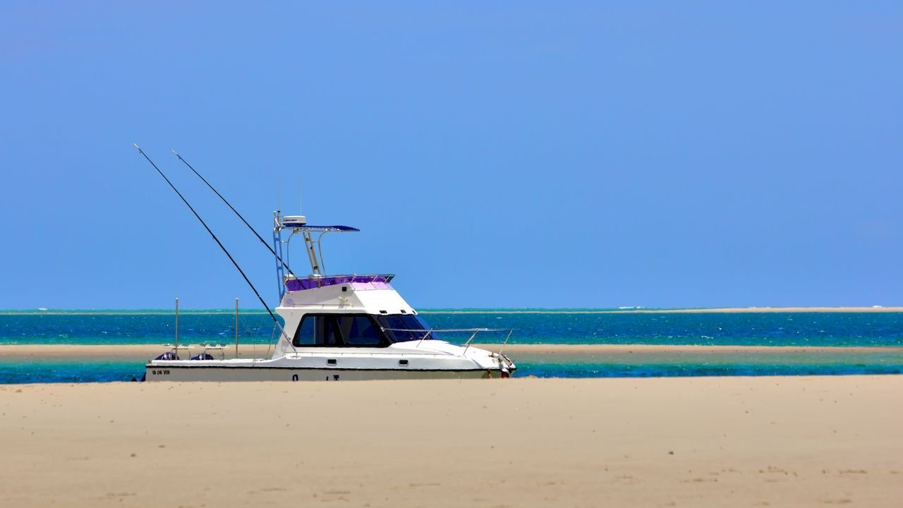 Can You Travel - a fishing boat at Bazaruto Islan in Mozambique.