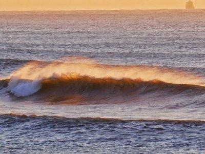 Breaking wave in the Umdloti sunrise