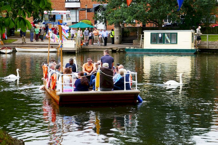 Chain Ferry on the River Avon