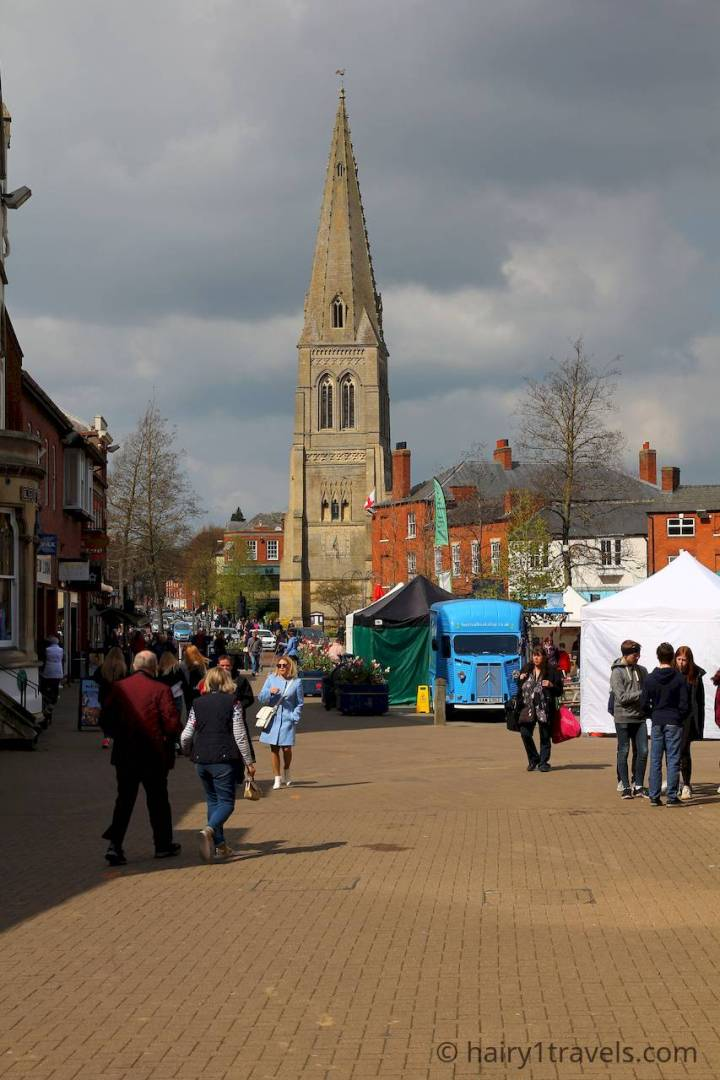 Holistic Harborough on the right in The Square. Holistic harborough Festival in The Squaare.
