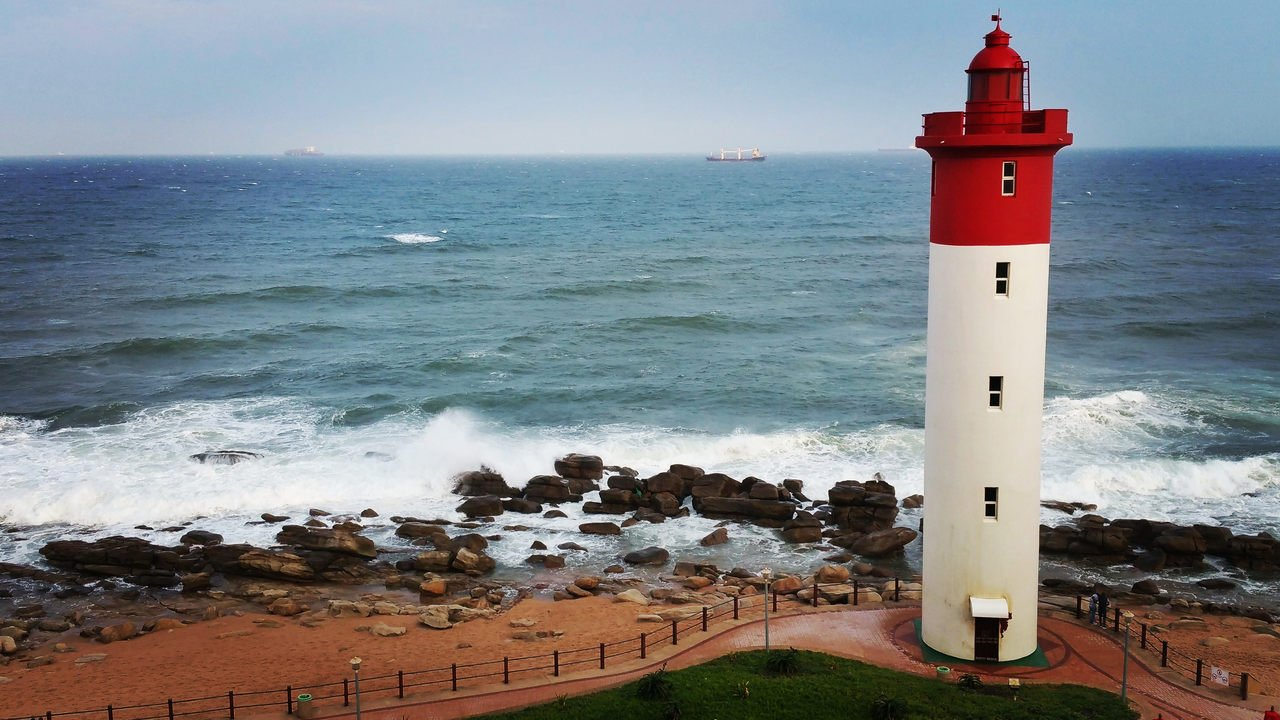 Umhlanga Rocks Lighthouse on the kwaZulu-Natal coast, South Africa