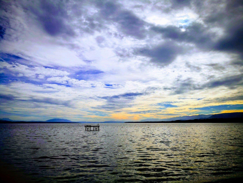 Clouds over Lake Geneva at Perroy