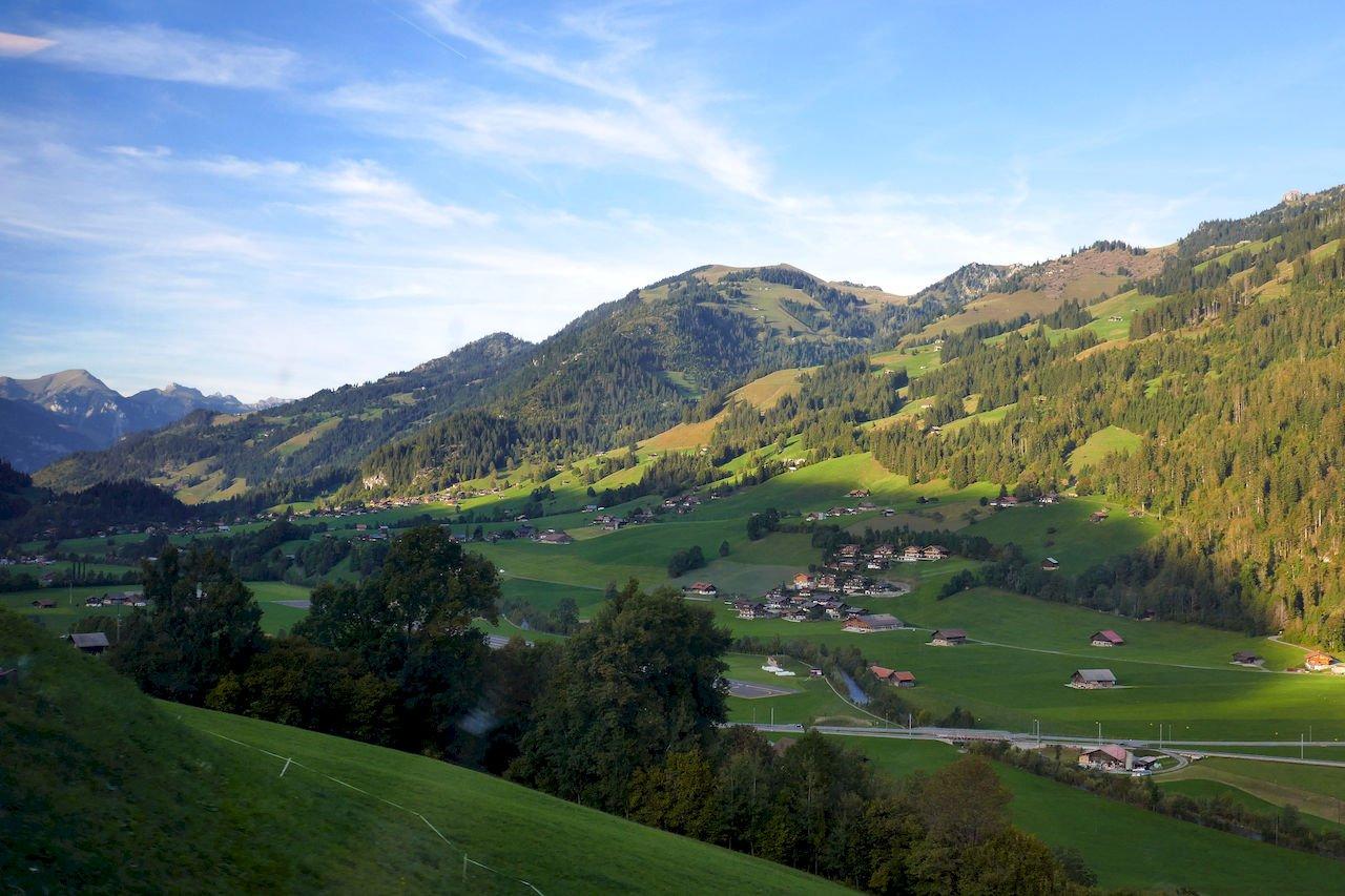 Mountains near Saanen in the Gstaad area of Switzerland.