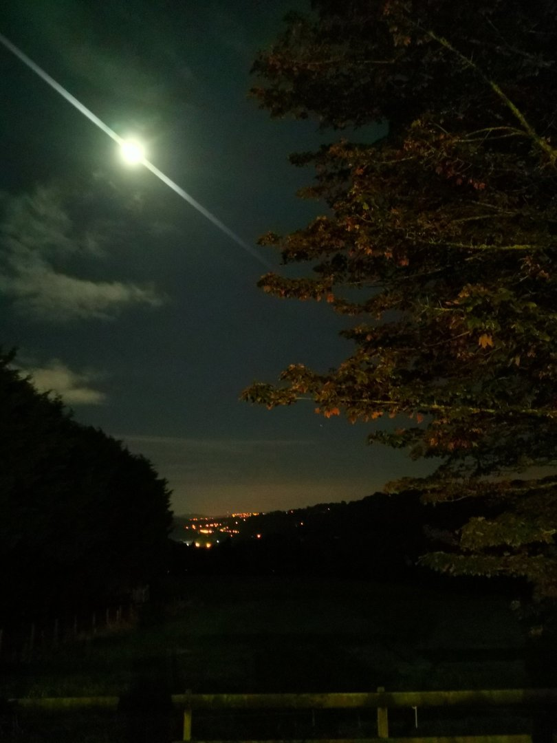 Looking over the Glanmire Valley towards Cork, under a full moon.