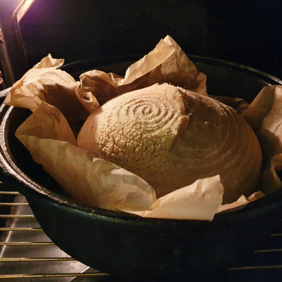 Simple sourdough bread in a dutch oven