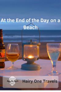 Please pin this. Sundowners on Sandown Beach at sunset in autumn.