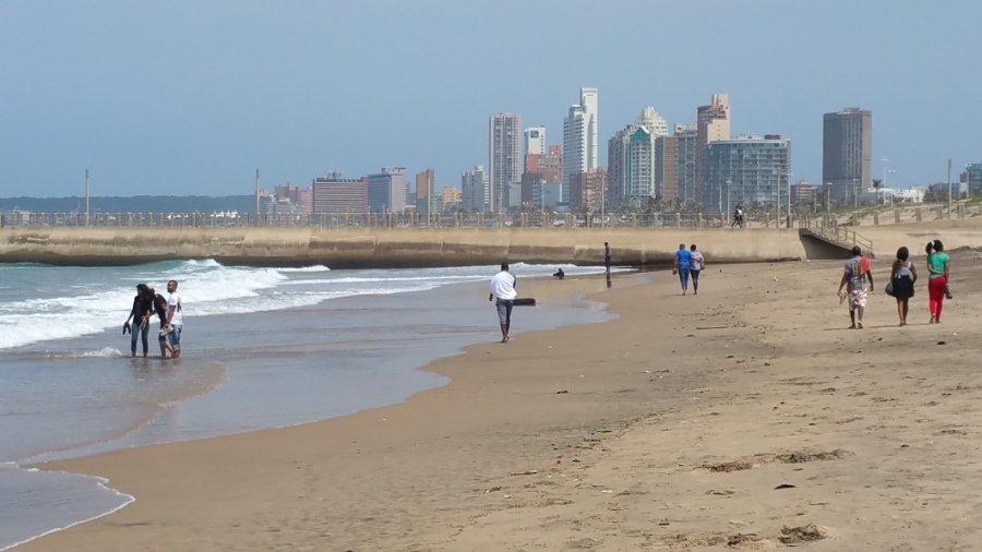 Durban North Beach looking towards Durban.