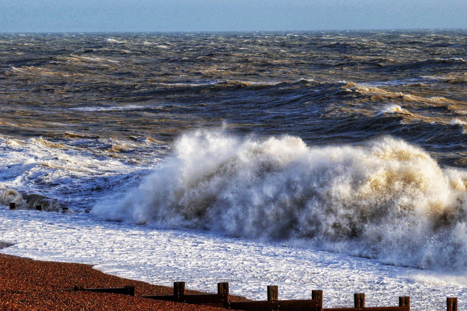 Rough Seas at St Leonards Beach